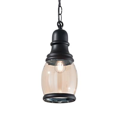 Ideal Lux - Vintage - Hansel SP1 Oval - Pendant lamp - Black - LS-IL-168609