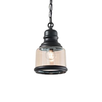 Ideal Lux - Vintage - Hansel SP1 Square - Pendant lamp - Black - LS-IL-168586