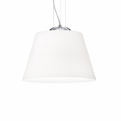 Ideal Lux - White - CYLINDER SP1 D30 - Pendant lamp - White - LS-IL-025421