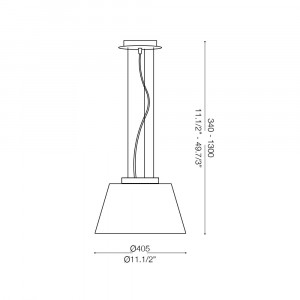 Ideal Lux - White - CYLINDER SP1 D40 - Pendant lamp