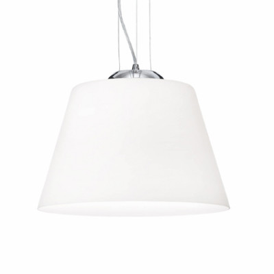 Ideal Lux - White - CYLINDER SP1 D40 - Pendant lamp - White - LS-IL-025438