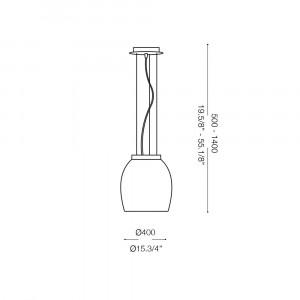 Ideal Lux - White - EVA SP1 BIG - Pendant lamp