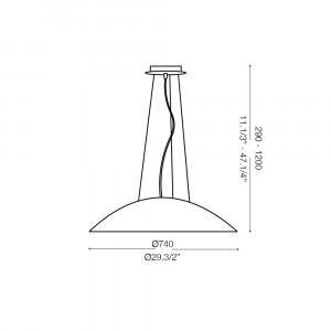 Ideal Lux - White - LENA SP3 D74 - Pendant lamp
