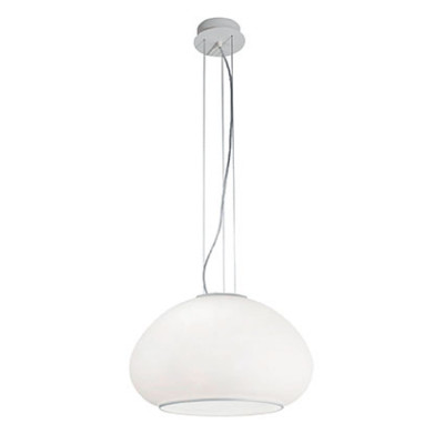 Ideal Lux - White - MAMA SP1 D40 - Pendant lamp - White - LS-IL-071015