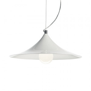 Ideal Lux - White - Mandarin SP1 - Pendant lamp with metal diffuser
