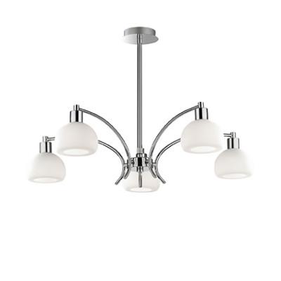 Ideal Lux - White - TOKYO SP5 - Pendant lamp - Chrome - LS-IL-068459
