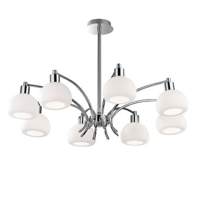 Ideal Lux - White - TOKYO SP8 - Pendant lamp - Chrome - LS-IL-068466