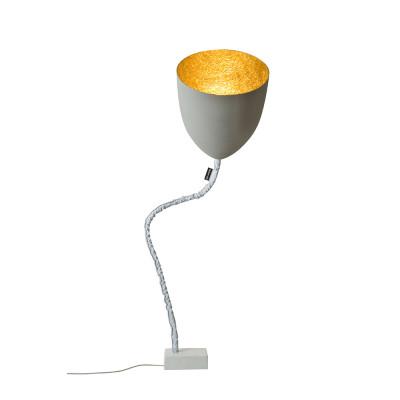 In-es.artdesign - Flower - Flower Cement - Floor lamp - Grey/Gold - LS-IN-ES070014G-O