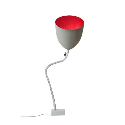In-es.artdesign - Flower - Flower Cement - Floor lamp - Grey/Red - LS-IN-ES070014G-R