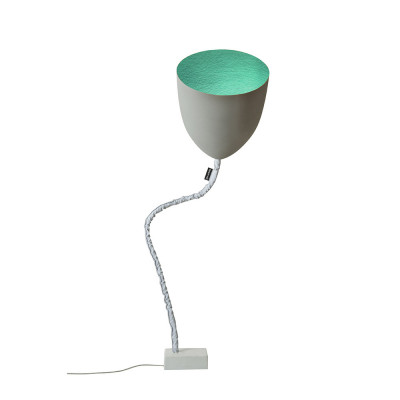 In-es.artdesign - Flower - Flower Cement - Floor lamp - Grey/Turquoise - LS-IN-ES070014G-T