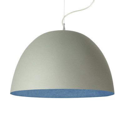 In-es.artdesign - H2O - H2O Cemento SP - Dome shaped chandelier - Grey / Blue - LS-IN-ES050G-BL