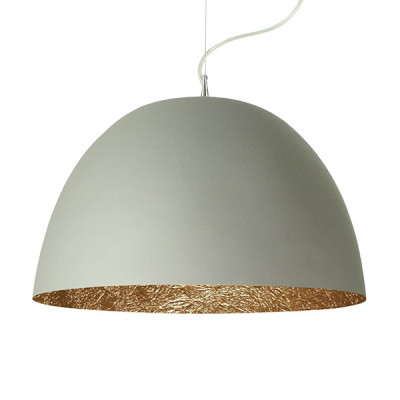 In-es.artdesign - H2O - H2O Cemento SP - Dome shaped chandelier - Grey / bronze - LS-IN-ES050G-BR