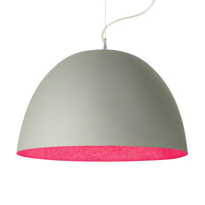In-es.artdesign - H2O - H2O Cemento SP - Dome shaped chandelier - Grey / magenta - LS-IN-ES050G-M