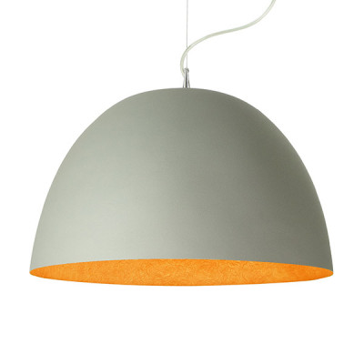 In-es.artdesign - H2O - H2O Cemento SP - Dome shaped chandelier - Grey/Orange - LS-IN-ES050G-A