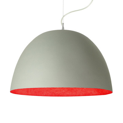 In-es.artdesign - H2O - H2O Cemento SP - Dome shaped chandelier - Grey/Red - LS-IN-ES050G-R
