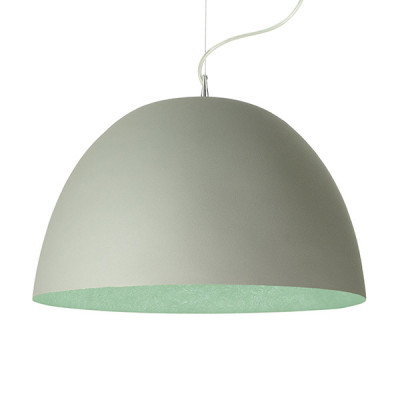 In-es.artdesign - H2O - H2O Cemento SP - Dome shaped chandelier - Grey/Turquoise - LS-IN-ES050G-T