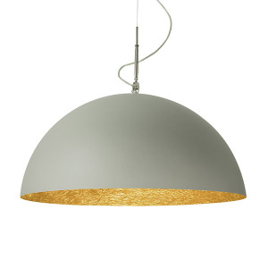 In-es.artdesign - Mezza Luna - Mezza Luna 2 Cemento SP - Modern chandelier