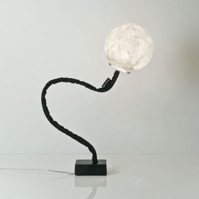 In-es.artdesign - Micro Luna - Micro Luna Piantana - Floor lamp - Nebulite/Black - LS-IN-ES070013N