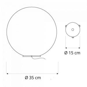 In-es.artdesign - Out Ex moon - Ex moon 35 - Outdoor floor lamp XS