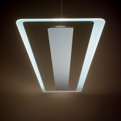 Linea Light - Antille - Antille SP LED - Chandelier with glass diffusion - Chrome - LS-LL-8937 - Warm white - 3000 K - Diffused