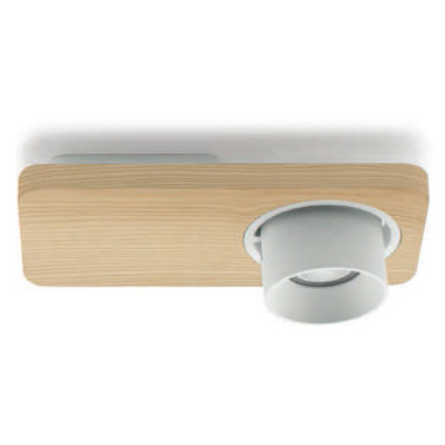 Linea Light - Applique - Beebo PL - Designer lamp - Natural oak -  - Warm white - 3000 K - 45°