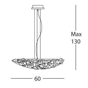 Linea Light - Artic - Artic pendant lamp M