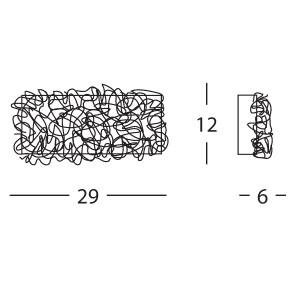 Linea Light - Artic - Artic wall lamp glass S