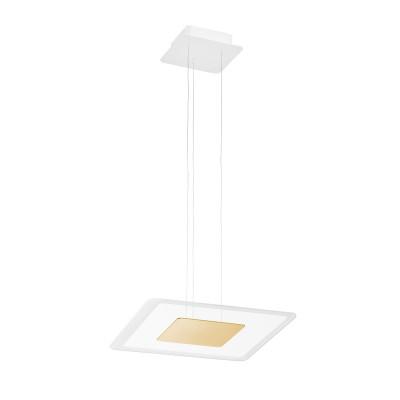 Linea Light - Aruba - Aruba SP LED M - Modern square shape chandelier  - Gold - LS-LL-8935 - Warm white - 3000 K - Diffused