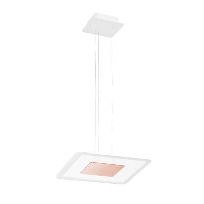 Linea Light - Aruba - Aruba SP LED M - Modern square shape chandelier  - Pink - LS-LL-8934 - Warm white - 3000 K - Diffused