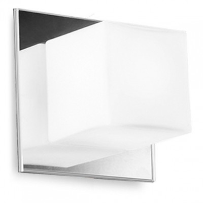 Linea Light - Bathroom lighting - Cubic wall lamp - Chrome - LS-LL-6410