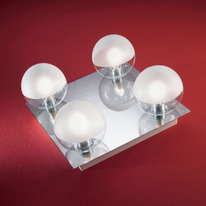 Linea Light - Boll - Boll 4 lights overhead bathroom lamp
