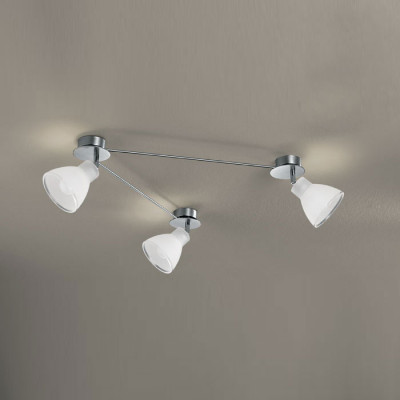 Linea Light - Campana - Campana - Adjustable ceiling lamp with 3 lights - Satin-finished nickel - LS-LL-4428