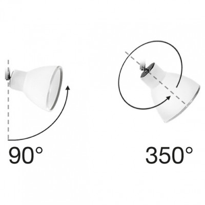 Linea Light - Campana - Campana - Adjustable wall lamp with two lights
