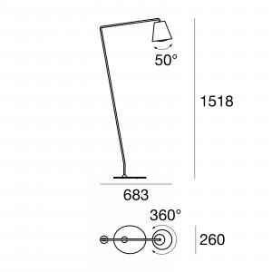 Linea Light - Conus - Conus LED - Floor lamp