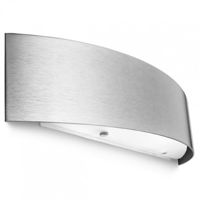 Linea Light - Curvè - Curvè wall lamp L - Satin-finished nickel - LS-LL-1032