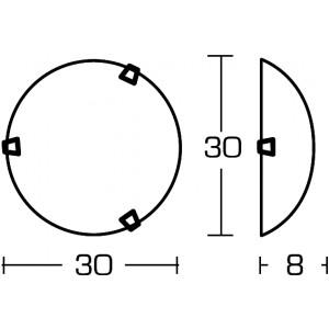 Linea Light - Delta - Delta overhead light/wall lamp S