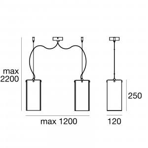 Linea Light - Gluèd - Gluèd - Pendant lamp with two lights