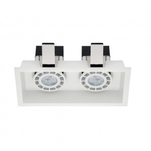 Linea Light - Incas - Incasso C2 FA - Recessed ceiling spotlight with two light
