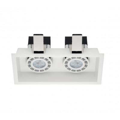 Linea Light - Incas - Incasso C2 FA - Recessed ceiling spotlight with two light - White - LS-LL-8379