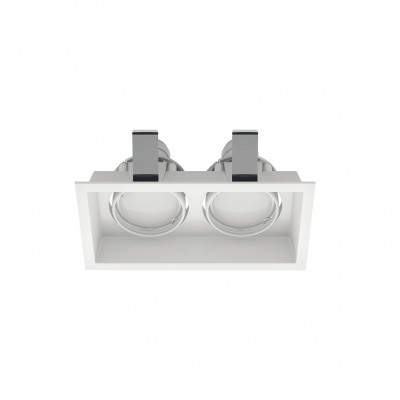 Linea Light - Incas - Incasso C2J FA - Recessed ceiling spotlight with two adjustable lights - White - LS-LL-8372