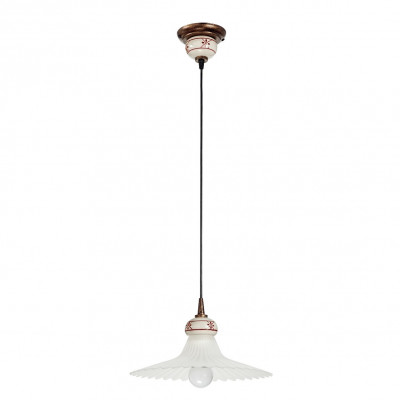 Linea Light - Mami - Mami bell-shaped diffuser pendant lamp M - Rust - LS-LL-2645
