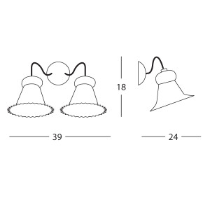 Linea Light - Mami - Mami bell-shaped diffuser wall lamp