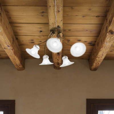 Linea Light - Mami - Mami decorated ceramic ceiling light M