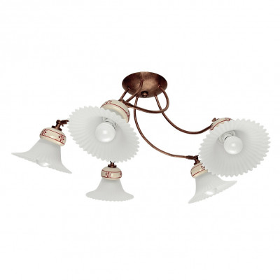 Linea Light - Mami - Mami decorated ceramic ceiling light M - Rust - LS-LL-2657