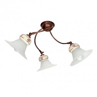 Linea Light - Mami - Mami decorated ceramic ceiling light S - Rust - LS-LL-2649