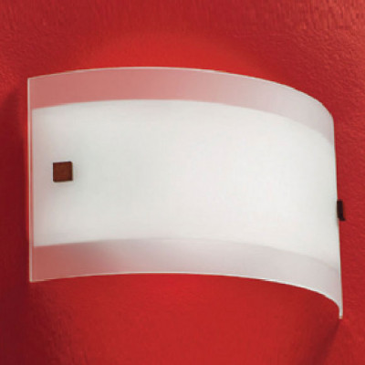 Linea Light - Mille - Mille wall lamp - Brushed nickel/Cherry Wood - LS-LL-1045