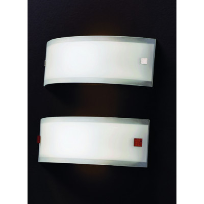 Linea Light - Mille - Mille wall lamp S - Nickel, Cherry Wood