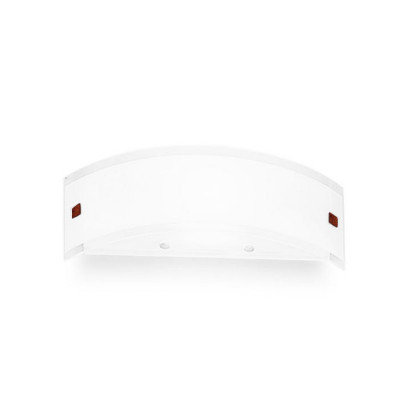 Linea Light - Mille - Mille wall lamp S - Nickel, Cherry Wood - Brushed nickel/Cherry Wood - LS-LL-1022