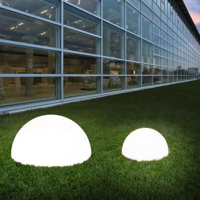 Linea Light - Ohps! - Ohps! - Half sphere shaped outdoor floor lamp S