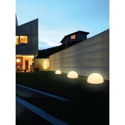 Linea Light - Ohps! - Ohps! - Semi-sphere shaped outdoor floor lamp M